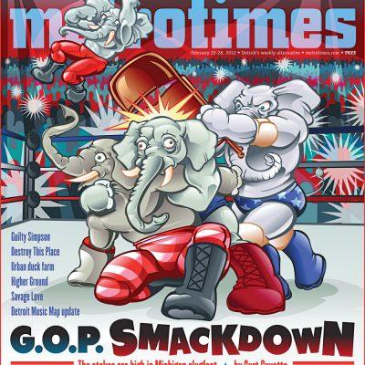 MetroTimes GOP Smackdown cover