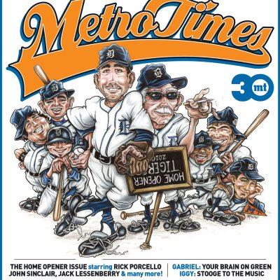 MetroTimes Home Opener 2010 cover