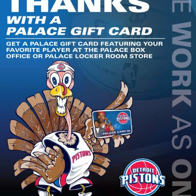 Pistons Thanksgiving Promo