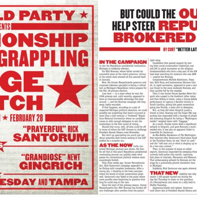 Metro Times - GOP Cage Match -Big Story opening spread
