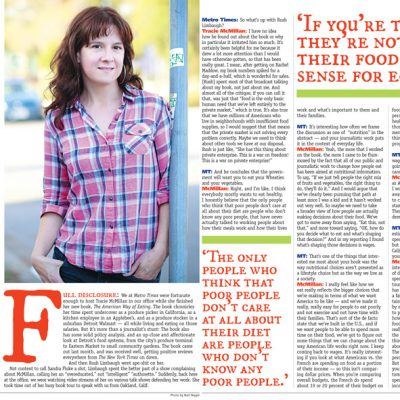 Metro Times - Spread - Interview with Traci McMillan author of The American Way of Eating