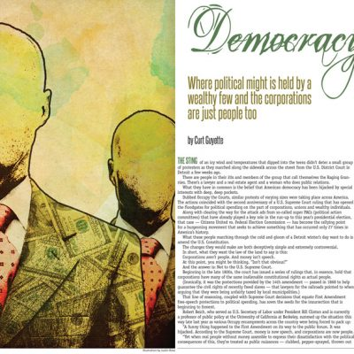 Metro Times - Illustration and editorial layout - Democracy for Dollars