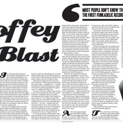Metro Times - Editorial layout - Coffee Blast - story by Jonathan Cunningham, photos by Doug Coombe