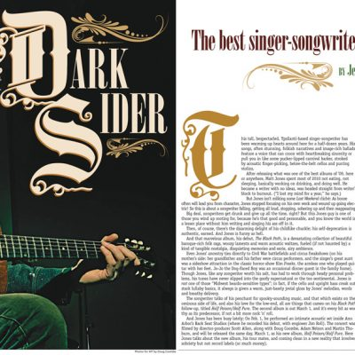 Metro Times - Editorial layout - Dark Sider - story by Jeff Milo, photos by Doug Coombe