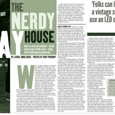 Metro Times - Editorial layout - The Nerdy Play House - story by Laura Smolenski, photos by Rudy Pokorny